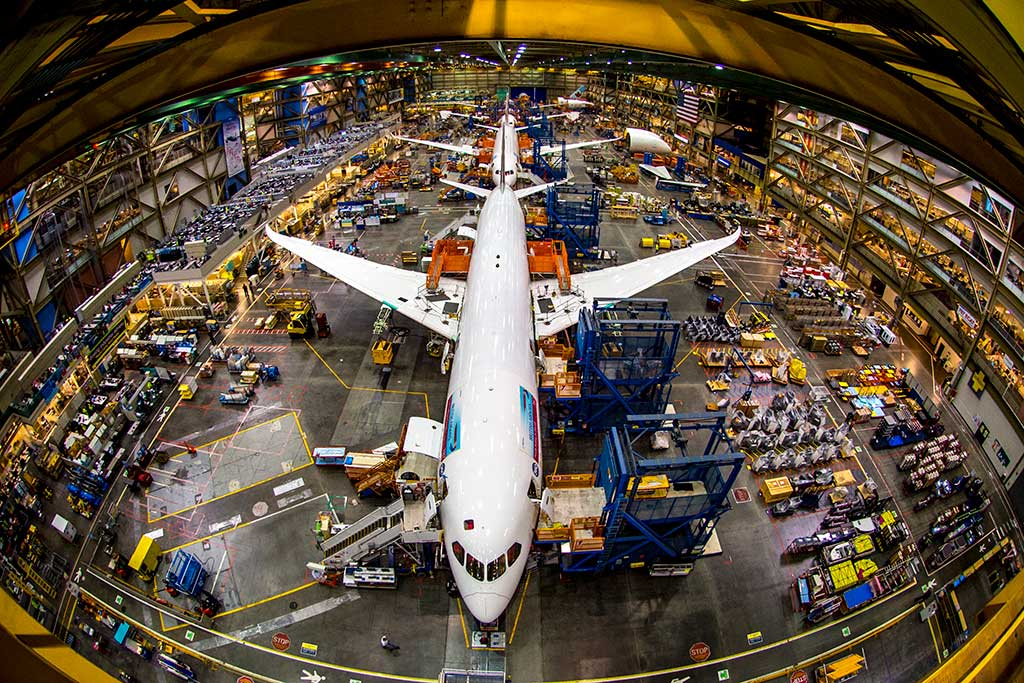 Watch as 747s, 777s and 787 Dreamliners are built on the Boeing Factory floor. Photo: Show Me Seattle